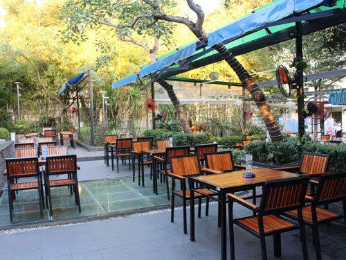 Mái che, mái xếp di động che nhà hàng, quán cafe