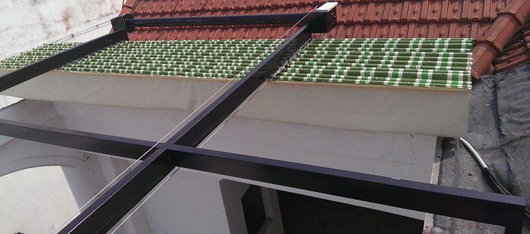 Mái xếp di động cho sân nhà