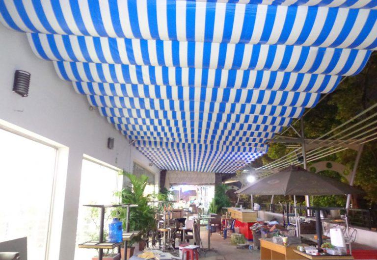 Mái xếp lượn sóng cho quán cafe ngoài trời