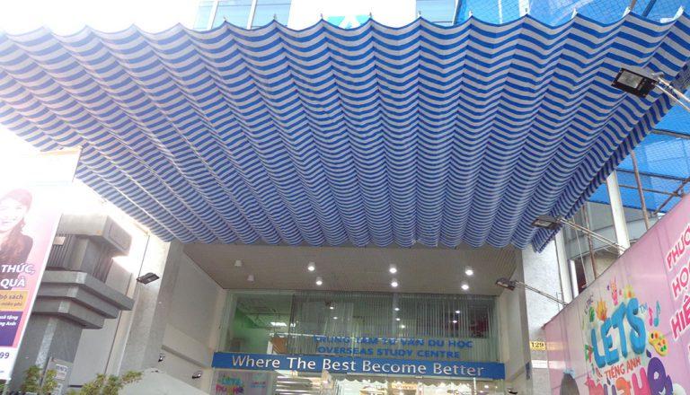 Mái xếp lượn sóng cho trung tâm tư vấn du học